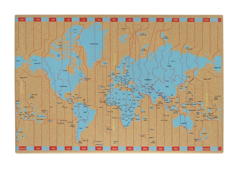 Tablica korkowa z mapą Memoboards