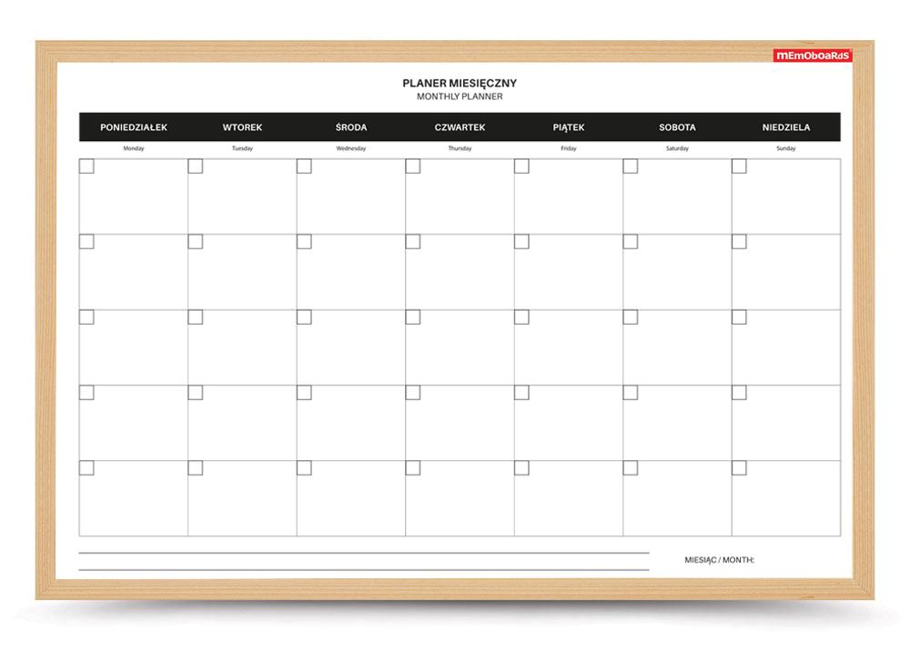 Planer miesięczny