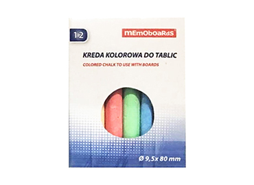 Kreda do tablic 12 szt. kolorowa